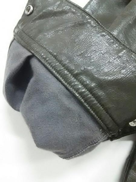YOSHIYUKI KONISHI(ヨシユキコニシ) ライダースジャケット レディース美品  カーキ
