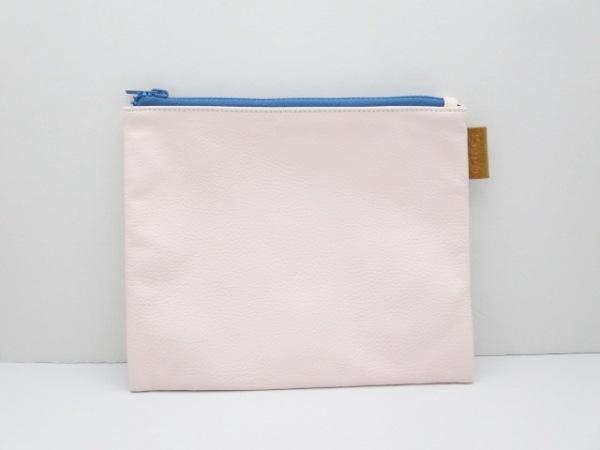 Hanaa-fu(ハナアフ) ポーチ新品同様  ピンク×ブルー 合皮