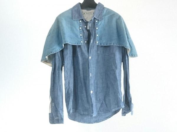 サスクワァッチファブリックス 長袖シャツ サイズS メンズ美品  ブルー デニム