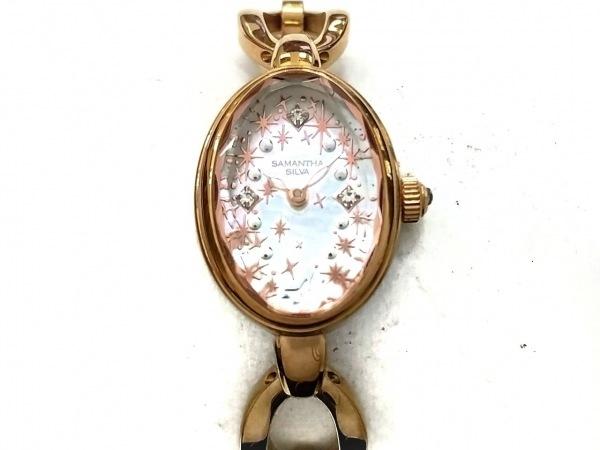 サマンサシルヴァ 腕時計 - レディース シェル文字盤/ディズニー アイボリー
