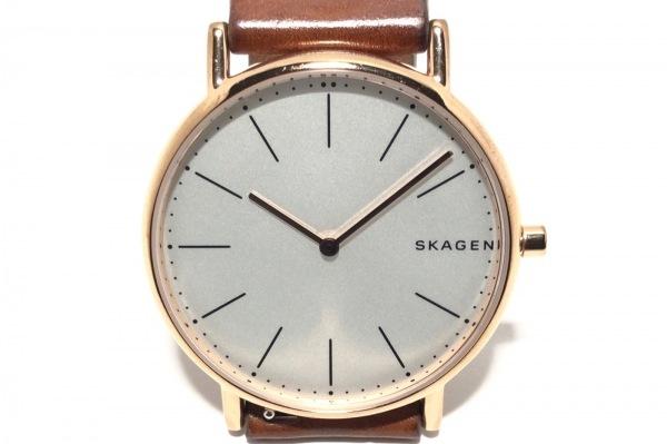 SKAGEN(スカーゲン) 腕時計 SKW6430 ボーイズ 革ベルト アイボリー