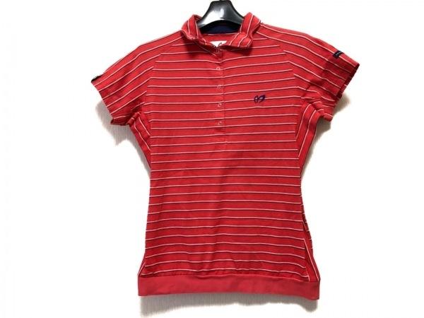 マスターバニーエディション 半袖ポロシャツ サイズ0 XS レディース ストライプ/刺繍
