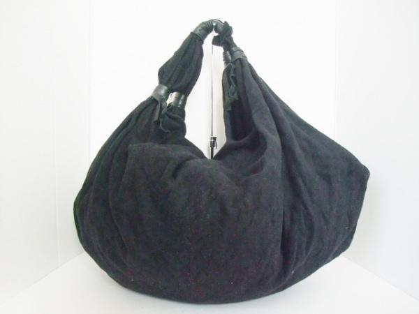 GALLEGO DESPORTES(ギャレゴデスポート) トートバッグ 黒 ウール×レザー