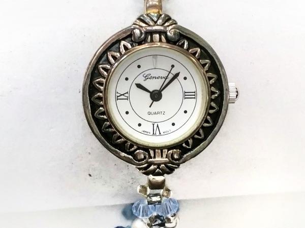 GENEVA QUARTZ(ジェネバクォーツ) 腕時計 - レディース ビーズ/スパンコール シルバー