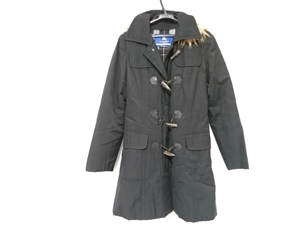バーバリーブルーレーベル コート サイズ40 M レディース 黒 冬物