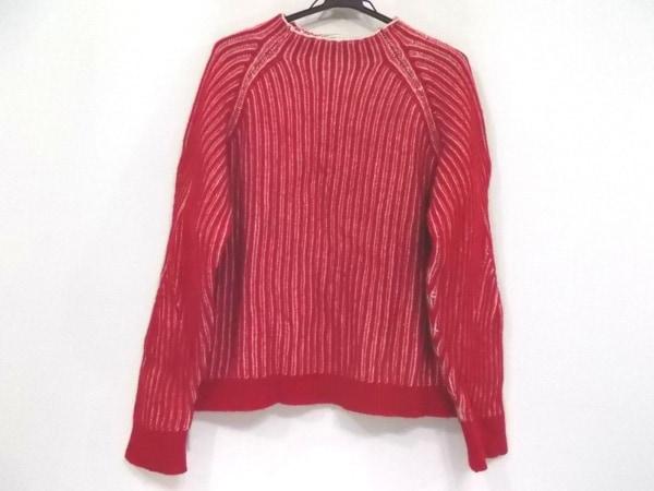 メゾンキツネ 長袖セーター サイズS レディース新品同様  レッド×アイボリー