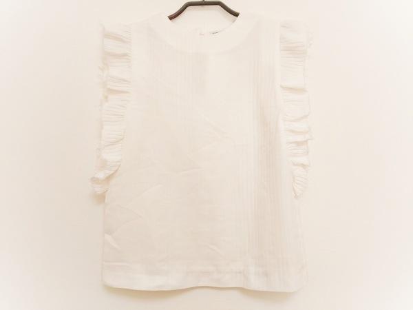 キャリンウエスター ノースリーブカットソー サイズXXS XS レディース美品  白