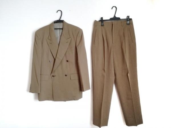 NICOLE(ニコル) ダブルスーツ サイズ48 XL メンズ美品  カーキ
