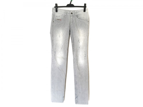 DIESEL(ディーゼル) パンツ サイズ28 L レディース CLUSHY ネイビー×白