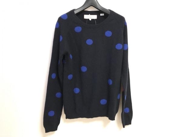 チンティアンドパーカー 長袖セーター サイズM レディース 黒×ブルー ドット柄