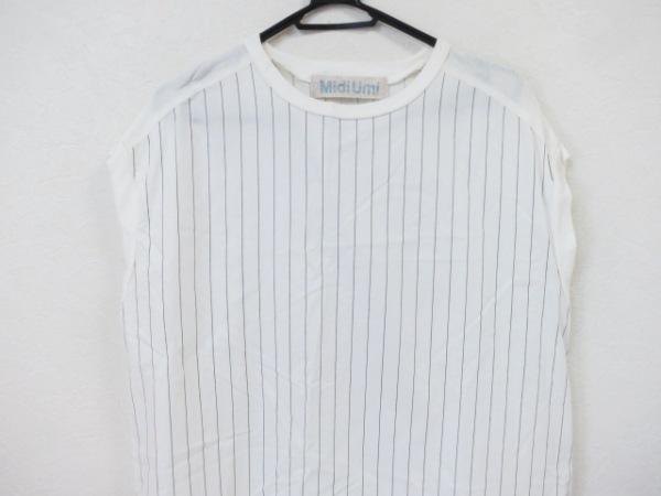 midiumi(ミディウミ) ワンピース レディース美品  白×黒 ストライプ