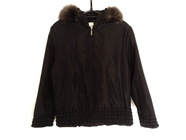 BALMAIN(バルマン) ダウンジャケット サイズM レディース美品  黒 冬物