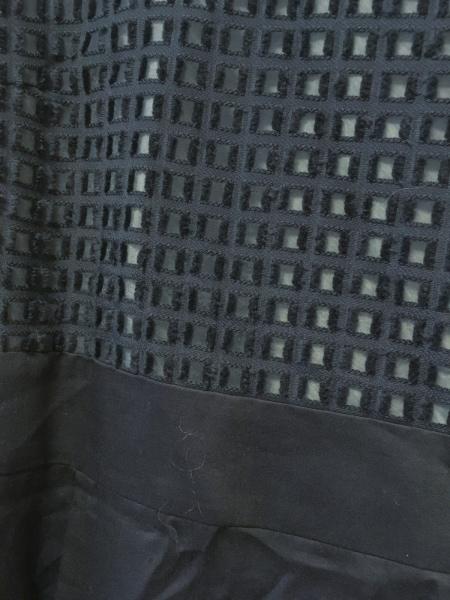 オペーク ワンピース サイズ38 M レディース美品  ダークネイビー×アイボリー