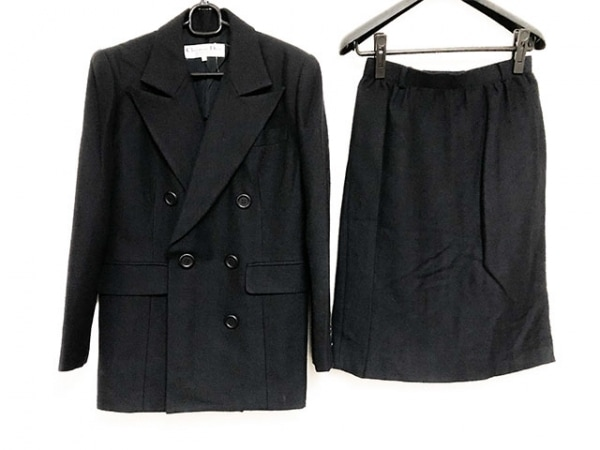 クリスチャンディオール スカートスーツ サイズ9 M レディース美品  黒 サンプル品