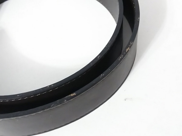 HAUTE(オート) ベルト XL ダークブラウン×ゴールド レザー