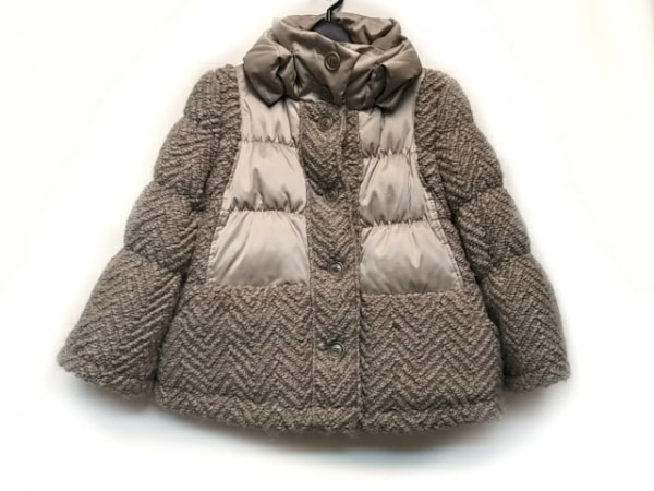 ルシェルブルー ダウンジャケット サイズ38 M レディース ベージュ 冬物/ニット