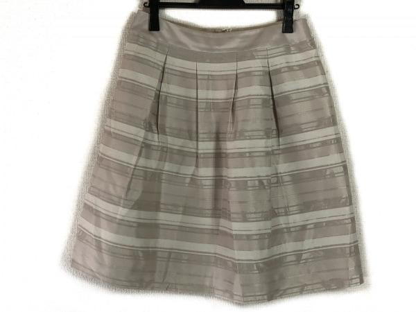 23区(ニジュウサンク) スカート サイズ40 M レディース ベージュ ボーダー