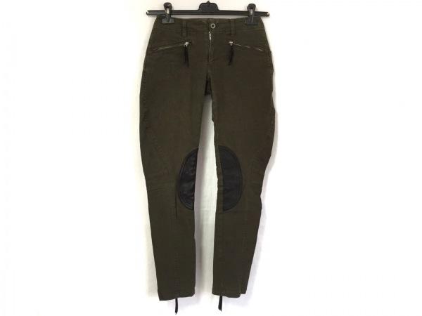 MaxFritz(マックスフリッツ) パンツ サイズ40 M レディース美品  カーキ×黒 femme