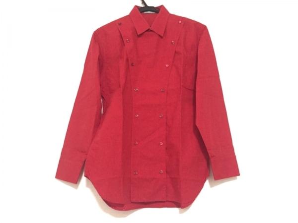 Dior HOMME(ディオールオム) 長袖シャツ メンズ レッド コックコート風(装飾着脱可)
