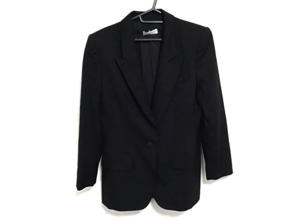 イヴサンローランリヴゴーシュ ジャケット サイズ38 M レディース美品  黒