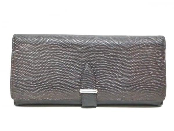 GANZO epoi(ガンゾエポイ) 長財布 ダークブラウン 型押し加工 レザー