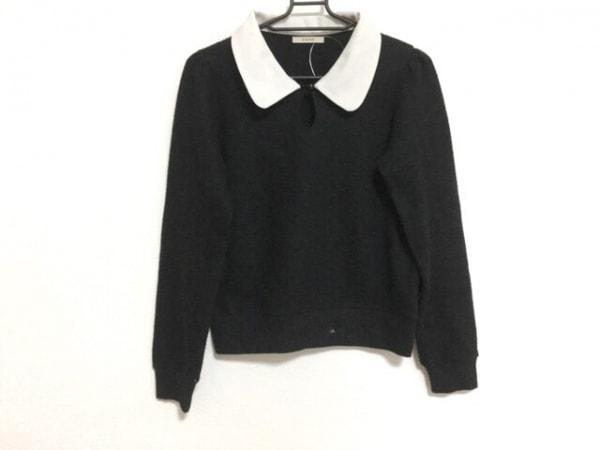 EATME(イートミー) 長袖セーター サイズF レディース 黒×白