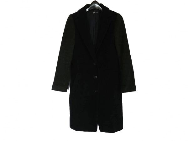 JET LOS ANGELES(ジェット) コート サイズ2 M レディース 黒×ダークグレー