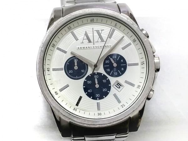 ARMANIEX(アルマーニEX) 腕時計 AX2500 メンズ クロノグラフ 白