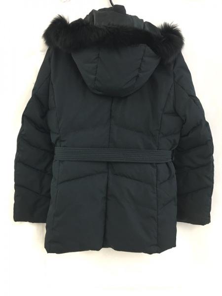 ニジュウサンク スポーツ ダウンコート サイズ3 L レディース 黒 ファー/冬物