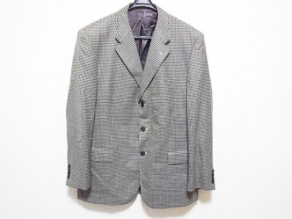ケント&カーウェン ジャケット サイズ54 メンズ美品  ブラウン×ネイビー×ベージュ