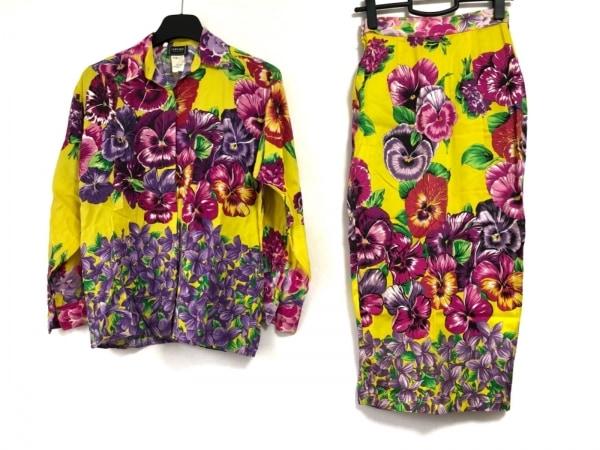 ヴェルサーチジーンズ スカートセットアップ サイズXS レディース 花柄