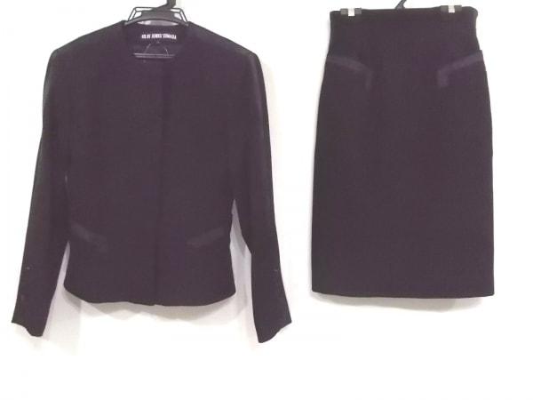 49アベニュージュンコシマダ スカートスーツ サイズ9 M レディース 黒 肩パッド