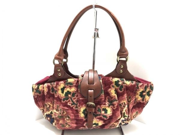 BARDOTROSE(バルトロゼ) ハンドバッグ ボルドー×ダークブラウン×マルチ 花柄