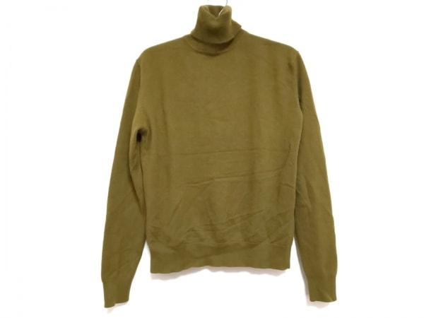 TSE(セイ) 半袖セーター サイズM レディース カーキ タートルネック