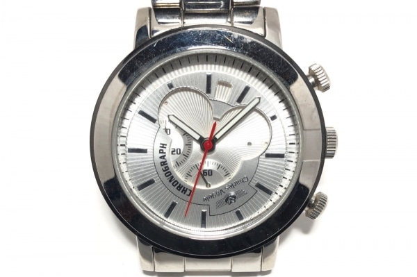 CharlesVogele(シャルルホーゲル) 腕時計 CV-7935 メンズ クロノグラフ シルバー