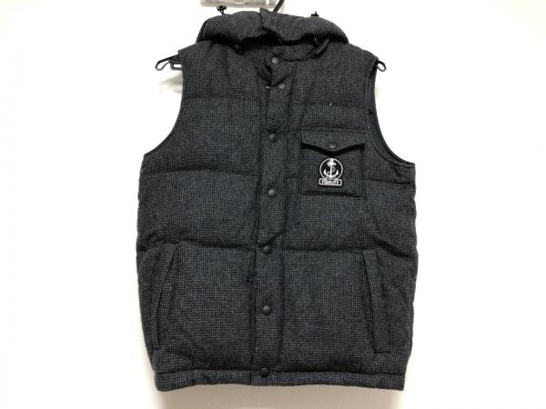FIDELITY(フェデリティー) ダウンベスト メンズ美品  黒×ダークグレー 千鳥格子