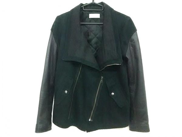 デイシー ライダースジャケット サイズF レディース 黒×ダークグレー 一部レザー