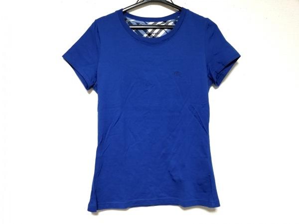 バーバリーブルーレーベル 半袖Tシャツ サイズ38 M レディース美品  ブルー
