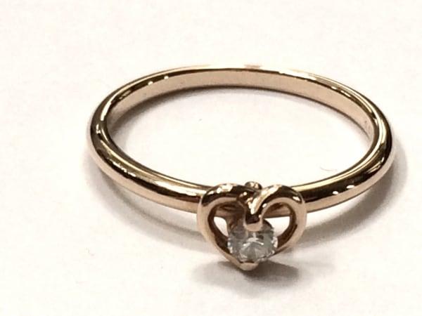 PonteVecchio(ポンテヴェキオ) リング美品  K18PG×ダイヤモンド 0.06カラット/ハート