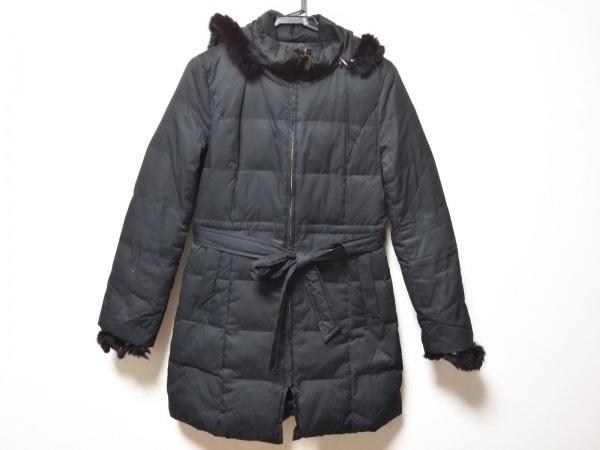 anySiS(エニシス) ダウンコート サイズ2 M レディース 黒 フード・ファー着脱可/冬物