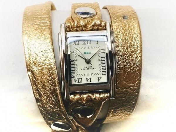 LA MER COLLECTIONS(ラメール) 腕時計 - SR626SW レディース 革ベルト ライトグレー