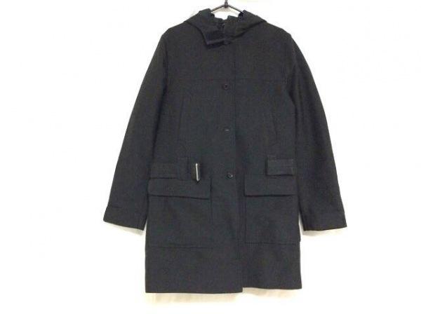 PRADA(プラダ) コート サイズ38 S レディース 黒 冬物/フード付き