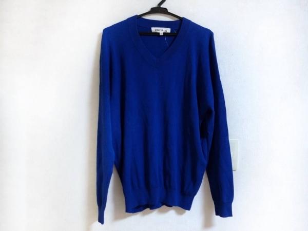 ENFOLD(エンフォルド) 長袖セーター サイズ38 M メンズ ブルー