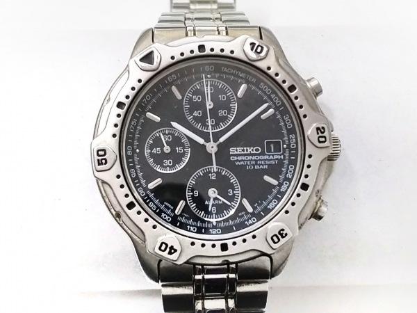 SEIKO(セイコー) 腕時計 7T62-0DR0 メンズ クロノグラフ 黒