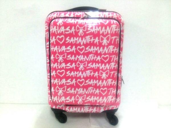 Samantha Thavasa(サマンサタバサ) キャリーバッグ美品  ピンク プラスチック