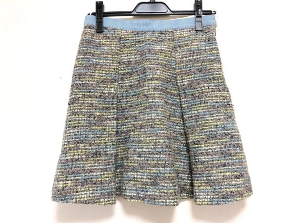 ジャスグリッティー スカート サイズ2 M レディース グレー×ライトブルー×マルチ