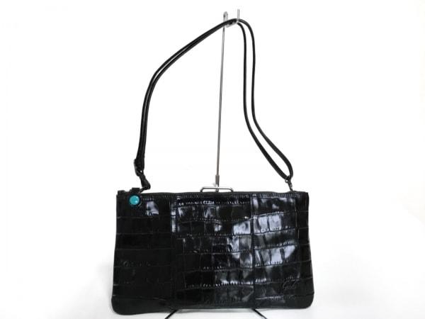 GABS(ガブス) クラッチバッグ美品  黒 型押し加工 レザー