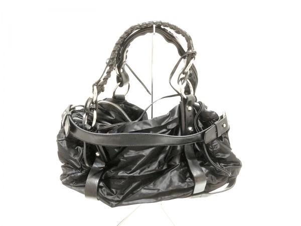 FRANCESCO BIASIA(フランチェスコ・ビアジア) ハンドバッグ美品  黒 ナイロン×レザー