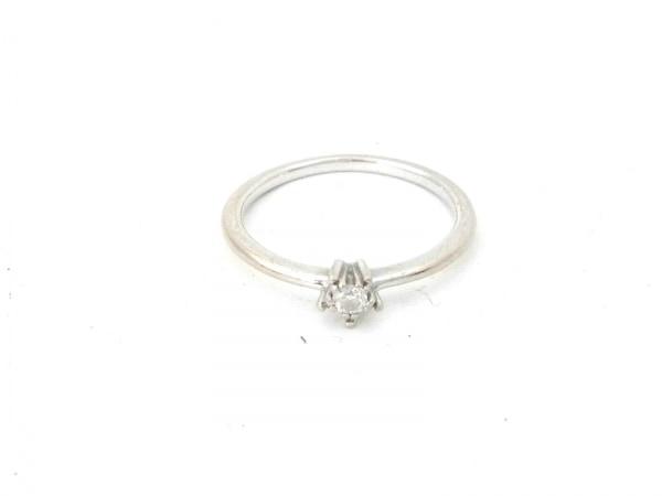 スタージュエリー リング美品  K18WG×ダイヤモンド 1Pダイヤ/0.04カラット