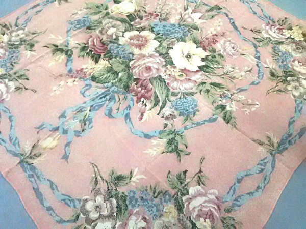 RalphLauren(ラルフローレン) スカーフ美品  ピンク×マルチ